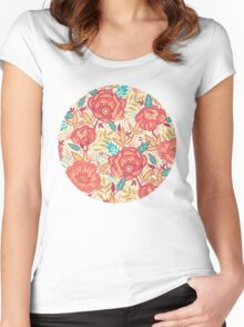 Bright garden pattern Women's Fitted Scoop T-Shirt