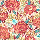 Bright garden pattern by oksancia