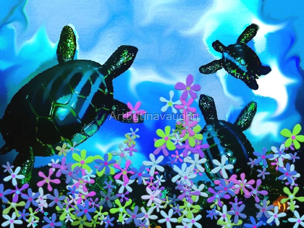 Fun With Sea Turtles by Lady Ex