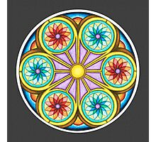 Portal Mandala - Print w/grey background Photographic Print