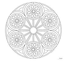 Portal Mandala - Print - Paint/Color Your Own Photographic Print