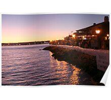 Sea Port Sun Set Poster