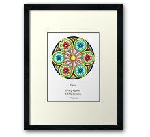 Portal Mandala - Poster w/Message Framed Print