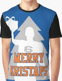 Merry Kristaps - Blue Graphic T-Shirt