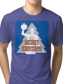 Merry Kristaps - Blue Tri-blend T-Shirt