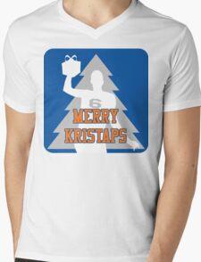 Merry Kristaps - Blue Mens V-Neck T-Shirt