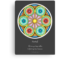 Portal Mandala - Poster w/Message and Grey Background Canvas Print
