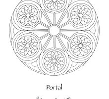 Portal Mandala - Poster - Color Your Own! w/Message by TheMandalaLady