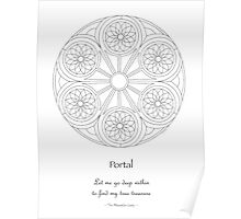 Portal Mandala - Poster - Color Your Own! w/Message Poster