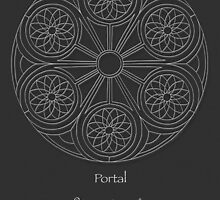 Portal Mandala - Poster - White Design w/Message  by TheMandalaLady