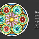 Portal Mandala - Card  w/Message, Grey Background by TheMandalaLady