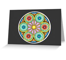 Portal Mandala - Card   w/Grey Background Greeting Card