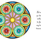 Portal Mandala - Card  w/Message by TheMandalaLady