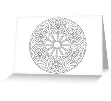 Portal Mandala - Coloring Card Greeting Card