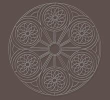 Portal Mandala T-Shirt - White Design by TheMandalaLady