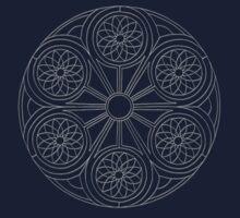 Portal Mandala T-Shirt - White Design Kids Tee