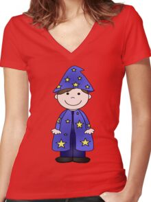 Charlie Wizard Women's Fitted V-Neck T-Shirt