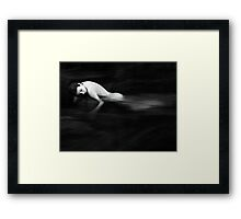 Woman in a River Framed Print