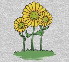 Flower Buds One Piece - Long Sleeve