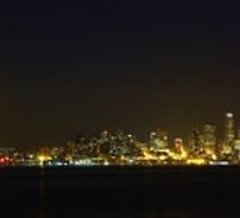 Seattle Skyline from Alki Beach, 10/09/2012 by VimanaVisual
