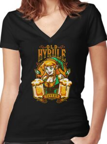 Old Hyrule Tavern Women's Fitted V-Neck T-Shirt