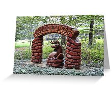 A front yard decoration Greeting Card
