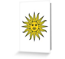 Uruguay Sun of May  Greeting Card