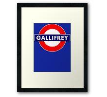 GALLIFREY METRO Framed Print