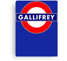 GALLIFREY METRO Canvas Print