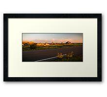 Badlands at Sunrise 4 Framed Print