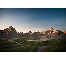 Badlands at Sunrise 5 (Spires) Photographic Print