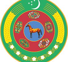 Emblem of Turkmenistan 2000-2003 by abbeyz71