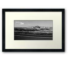 America in Passing 1/Badlands at Sunrise 5 Framed Print
