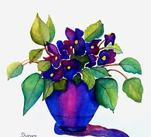 """NINNY'S PURPLE VIOLETS""   (Vertical) by ShireenJackson"