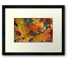 Autumn Embraces You Framed Print