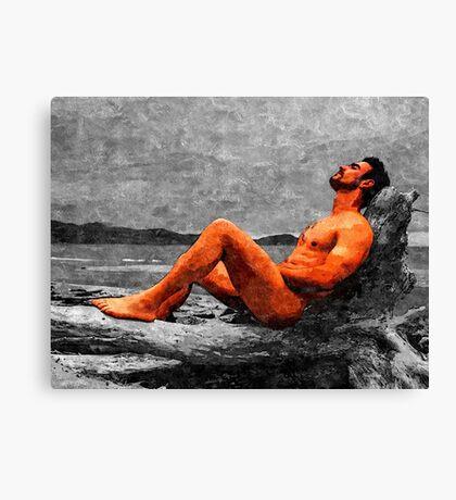 Reclined Nude Drifter Canvas Print