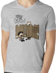 Attack on Calvin Mens V-Neck T-Shirt