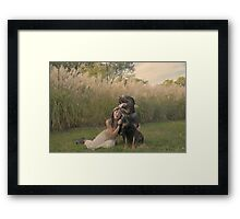 the beauty and beast Framed Print