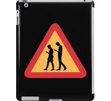 Mobile Zombies Warning, Road Sign, Sweden iPad Case/Skin