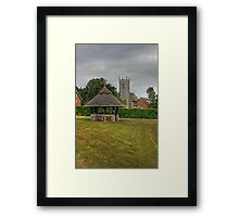 Woodbastwick village green and church Framed Print