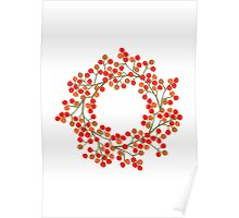 rowanberry wreath Poster