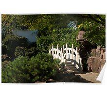 Ornate White Stone Bridge  Poster