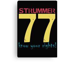 Strummer 77 Canvas Print