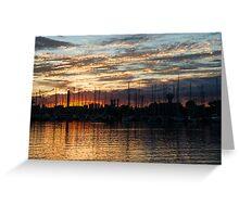 Spectacular Sky - Toronto Beaches Marina Greeting Card