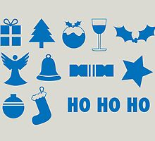 Christmas symbols - ho ho ho by rperrydesign