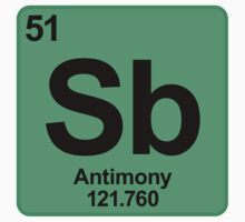 Element Sb Antimony by SignShop