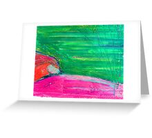 summer picnic in long grass II Greeting Card