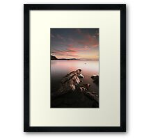 Seil Island Sunset Framed Print