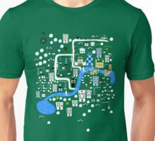 Cartoon Map of London Unisex T-Shirt