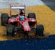 Alonso F1 Crash by palmerphoto